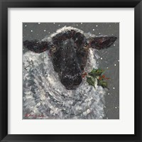 Framed Wren the Christmas Sheep