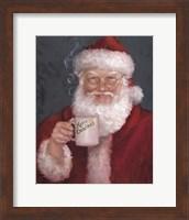 Framed Santa with a Mug