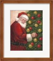Framed Santa with Ornaments