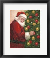 Framed Santa with Ornaments
