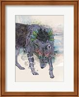 Framed Journeying Spirit (Wolf)