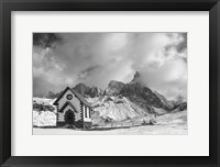 Framed Alpine Chapel BW