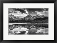 Framed Vermillion Reflection BW