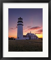 Framed Cape Cod Sunset - Vertical