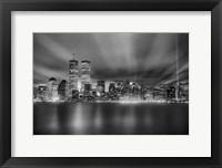 Framed Nyc Wtc Skyline Finished