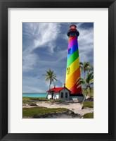 Framed Rainbow Lighthouse South