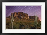 Framed Lost Dutchman Star Trails