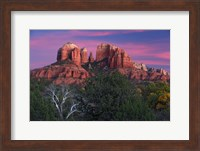 Framed Sedona Cathedral Rock Dusk