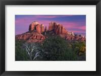 Framed Sedona Cathedral Rock Dusk