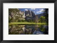 Framed Yosemite Falls Reflection