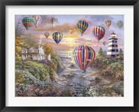 Framed Balloons Over Cottage Cove
