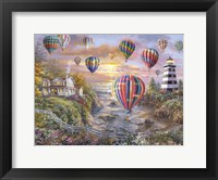 Framed Balloons Over Cottage Cove