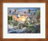 Framed Balloons over Sunset Cove