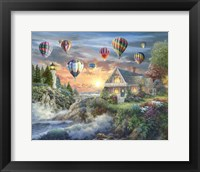 Framed Balloons over Sunset Cove
