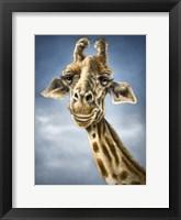 Framed Giraffe Totem