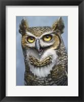 Framed Great Horned Owl Totem