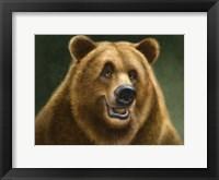 Framed Grizzly Totem