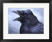 Framed Raven Totem