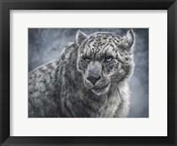 Framed Snow Leopard Totem
