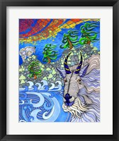 Framed Rocky Mountain Goats