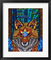 Framed Electric Fox