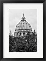 Framed St Pierre de Rome Basilica