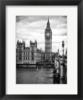 Framed Palace of Westminster and Big Ben - London