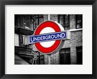 Framed Underground - Subway Station Sign