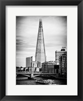Framed Shard Building and The River Thames - London