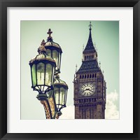 Framed Big Ben and the Royal Lamppost UK