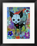 Framed Chihuahua Dog Black Face Al