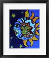 Framed La Luna El Sol Estrellado