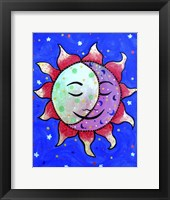 Framed Midnight Sun And Moon