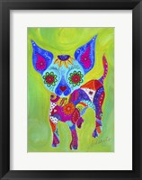 Framed Talavera Happy Chihuahua