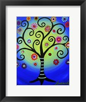 Framed Fullmoon Tree Of Life