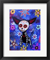 Framed Chihuahua Dia De Los Muertos