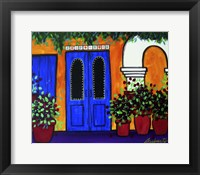 Framed Mexican Blue Door