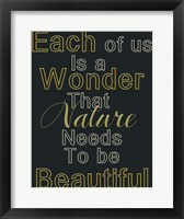 Framed Beauty Within