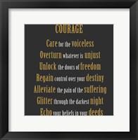 Framed Courage