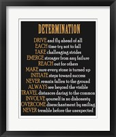 Framed Determination