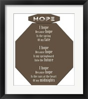 Framed Hope 1
