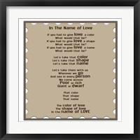 Framed In The Name Of Love