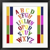Framed Rainbow Alphabet 2