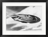 Framed 1950s Artist'S Conception Ufo Flying Saucer