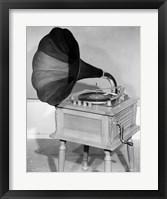 Framed 1950s Vintage Gramophone Converted To Furniture
