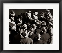 Framed 1930s 1940s Elevated View Of Group of Men