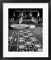 Framed 1960s Casino Viewed Of Roulette Table