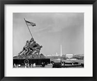 Framed 1960s Marine Corps Monument In Arlington