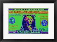 Framed Close-Up Detail American Dollar Bil