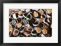 Framed Chocolate Candies In White Paper Cups